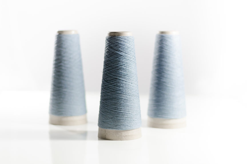 Ice Blue Perino Wool